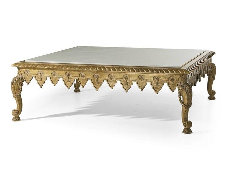 Classic style rectangular marble coffee table MG 4037 - OAK Industria Arredamenti