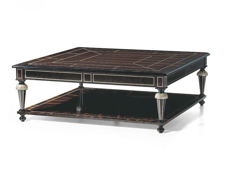 Louis XVI rectangular ebony coffee table MG 4057 - OAK Industria Arredamenti