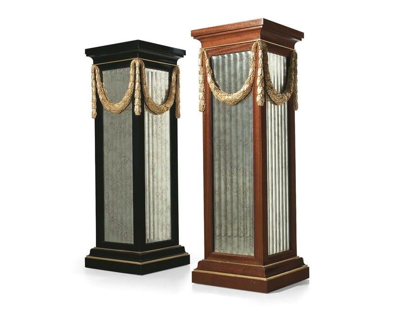 Classic style mahogany pedestal MG 4079 - OAK Industria Arredamenti
