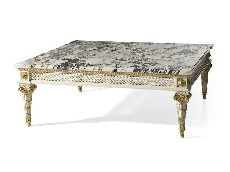 Lacquered rectangular marble coffee table MG 4127 - OAK Industria Arredamenti