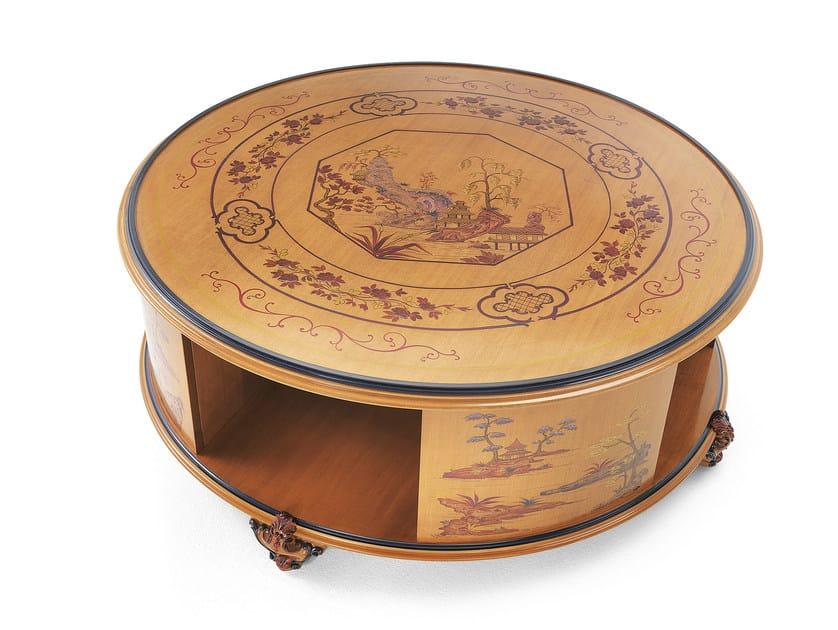 Round wooden coffee table MG 4347 LUC - OAK Industria Arredamenti