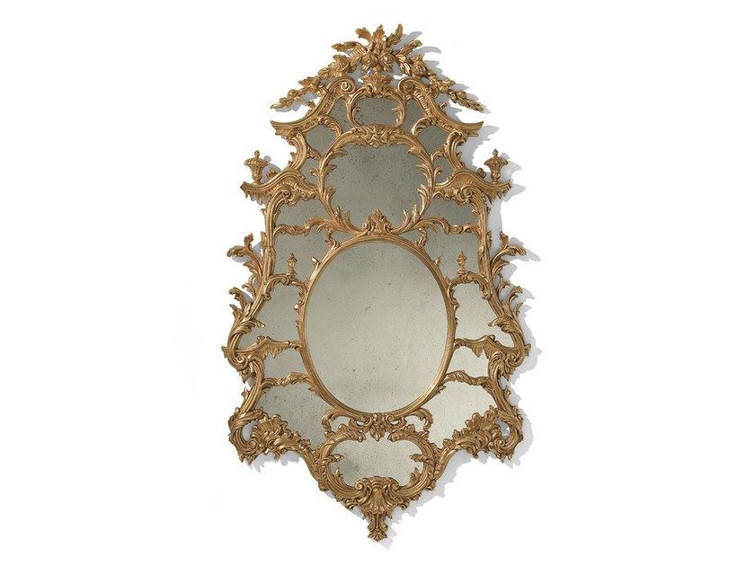 Baroque wall-mounted framed mirror MG 5031 - OAK Industria Arredamenti
