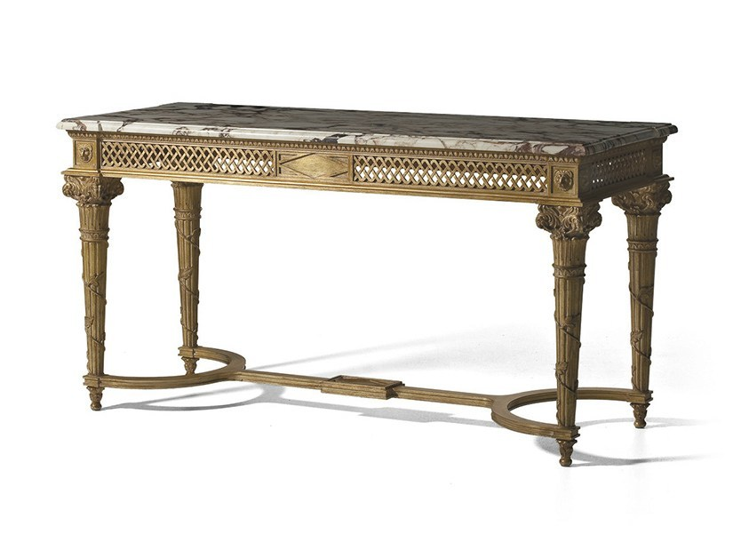 Rectangular wooden console table MG 5070 by OAK