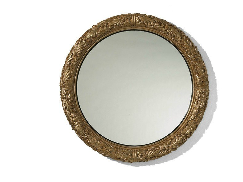 Louis XV round wall-mounted framed mirror MG 5131 - OAK Industria Arredamenti
