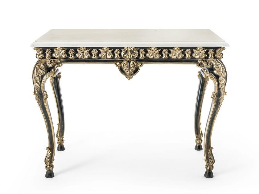 Classic style rectangular marble console table MG 5290 - OAK Industria Arredamenti
