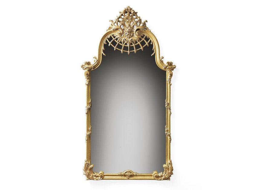 Rectangular wall-mounted framed mirror MG 5291 - OAK Industria Arredamenti