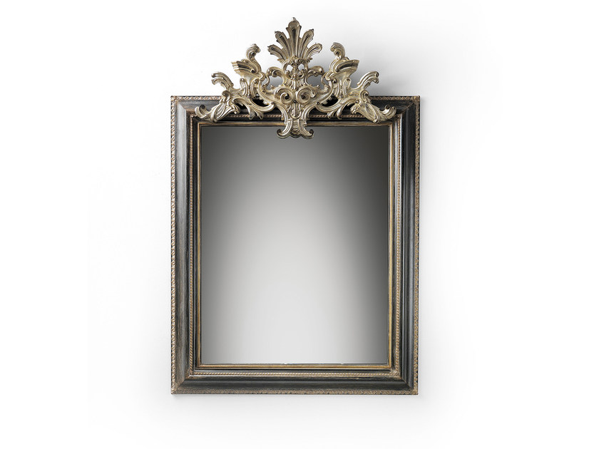 Rectangular wall-mounted framed mirror MG 5301 - OAK Industria Arredamenti