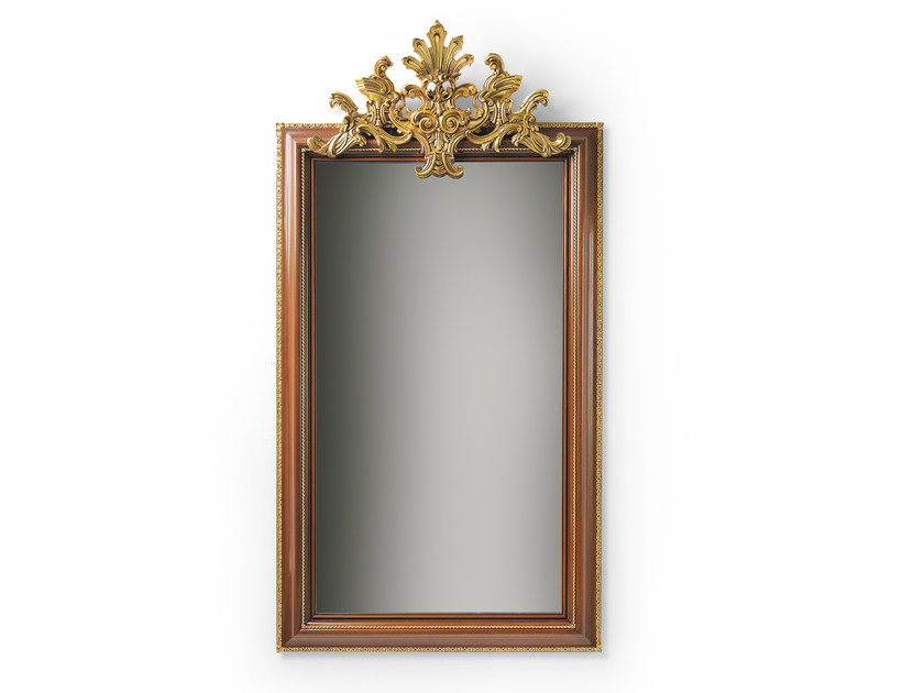 Rectangular wall-mounted framed mirror MG 5302 - OAK Industria Arredamenti