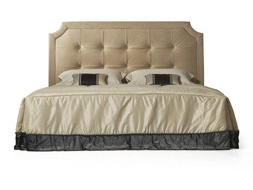 Double bed with tufted headboard MG 6612 - OAK Industria Arredamenti