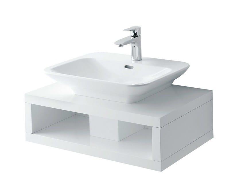 Single wooden washbasin countertop MH   Wooden washbasin countertop - TOTO