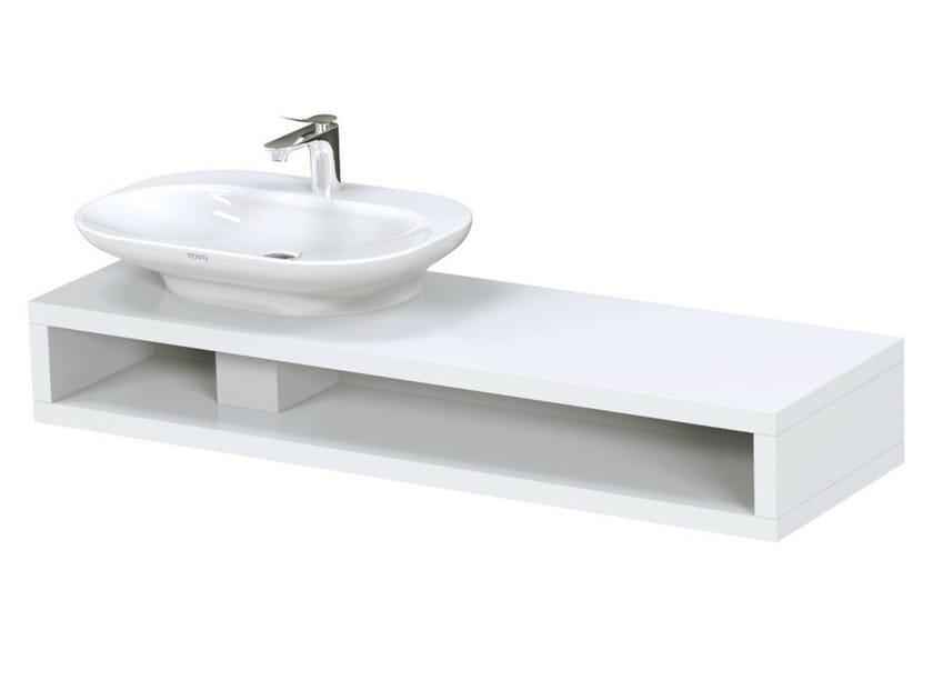 Single English oak washbasin countertop MH | English oak washbasin countertop - TOTO