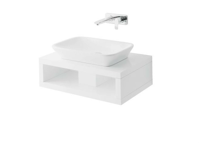 Single wooden washbasin countertop MH | Wooden washbasin countertop - TOTO