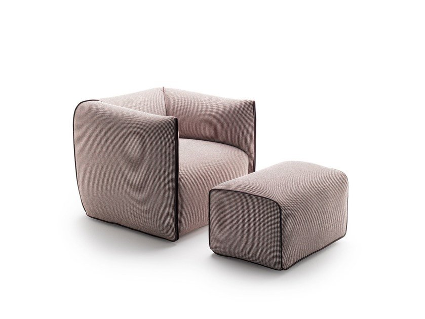 Upholstered fabric armchair with armrests MIA | Armchair - MDF Italia