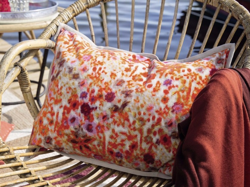 Rectangular cushion with removable cover MIAMI - Élitis
