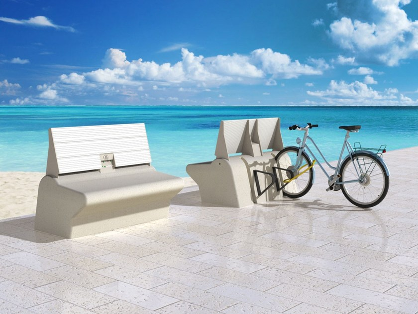 Reinforced concrete Bench MICARICA by Giulio Barbieri