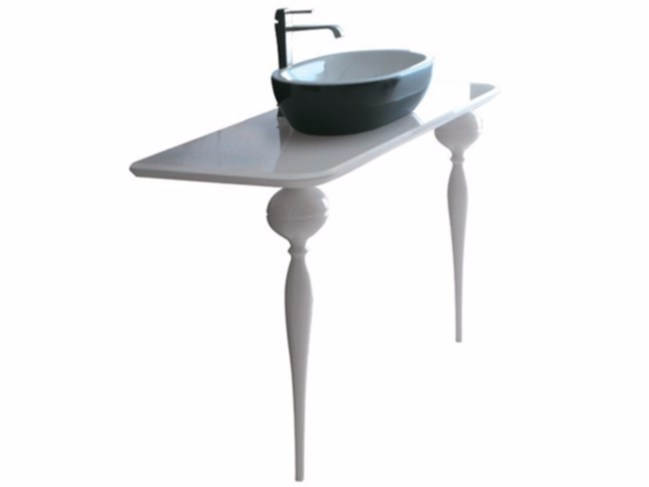 Lacquered glass console sink MIDAS 120 | Console sink - GALASSIA
