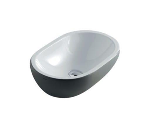 Countertop oval ceramic washbasin MIDAS | Oval washbasin - GALASSIA