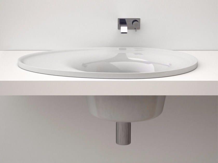 Lavabo rotondo in Adamantx® MILÙ | Lavabo da incasso soprapiano - ZAD ITALY