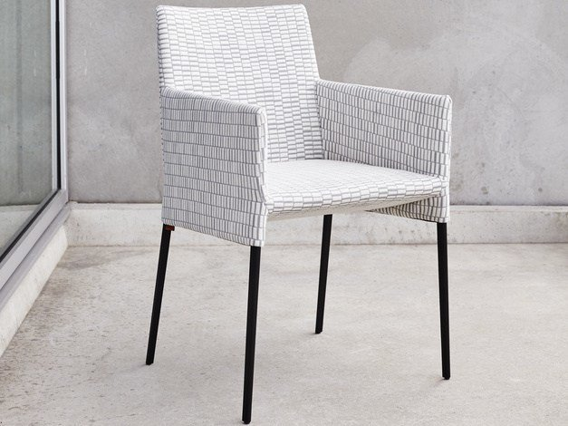 Upholstered wooden chair MILA | Chair with armrests - Montis