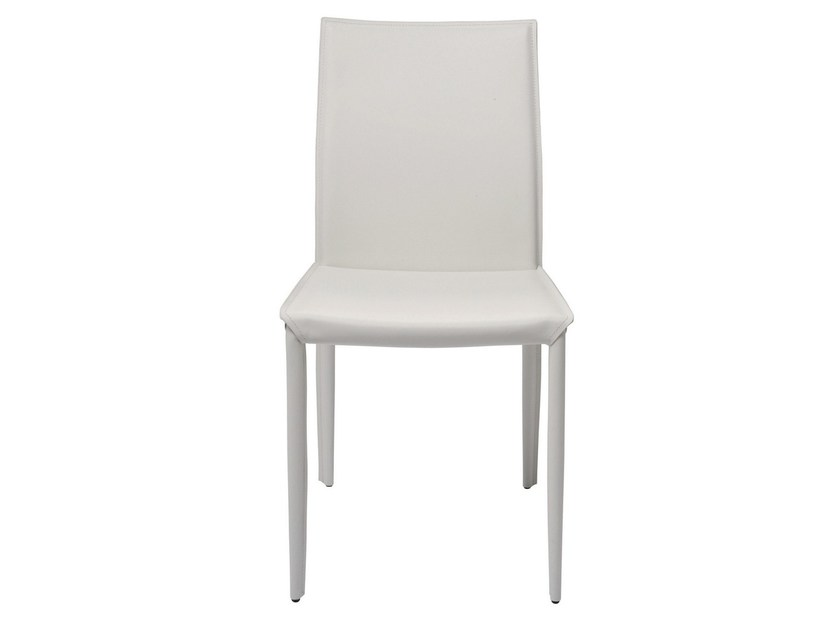Upholstered leather chair MILANO WHITE - KARE-DESIGN