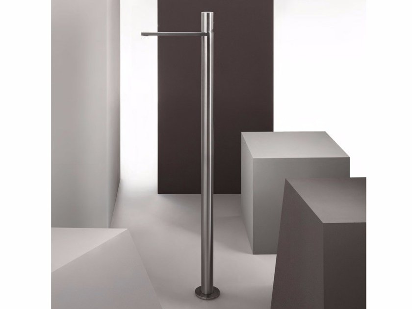 Floor standing single handle stainless steel washbasin mixer MILANO - 3336A/3036B - Fantini Rubinetti