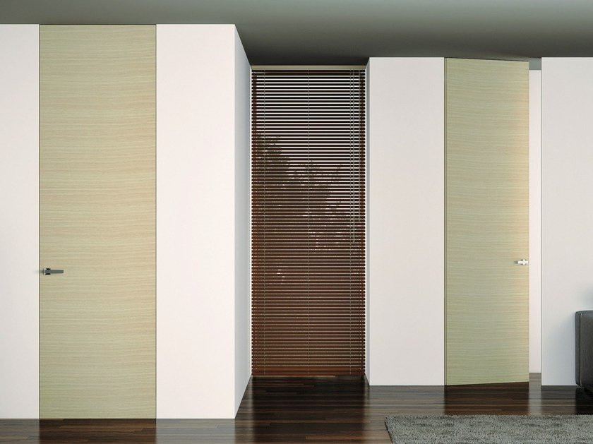 Hinged flush-fitting door MIMETICA by Pail Serramenti