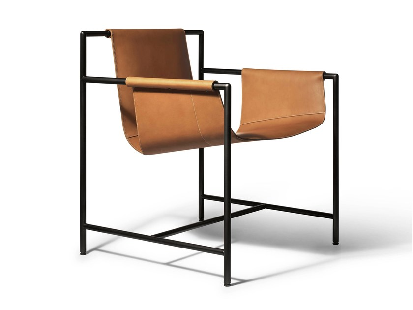 Tanned leather chair ming 39 s heart by poltrona frau design for New chair design
