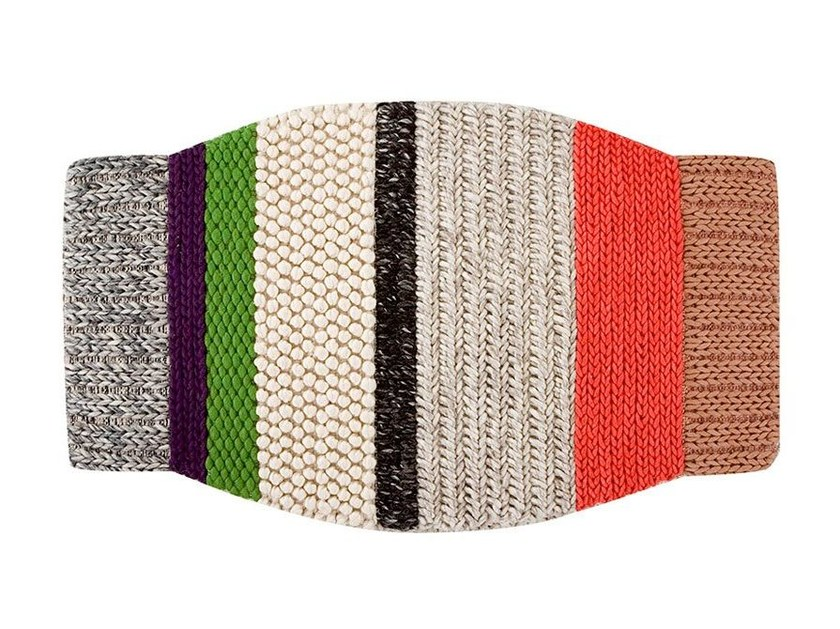 Striped wool rug MINI CAMPANA - GAN By Gandia Blasco