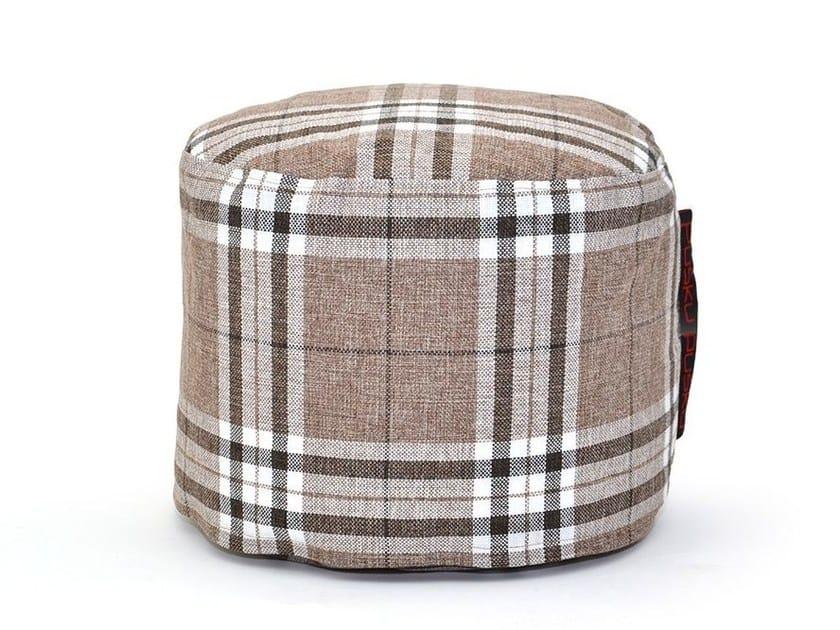 Upholstered fabric pouf MINI HOME - Pusku pusku