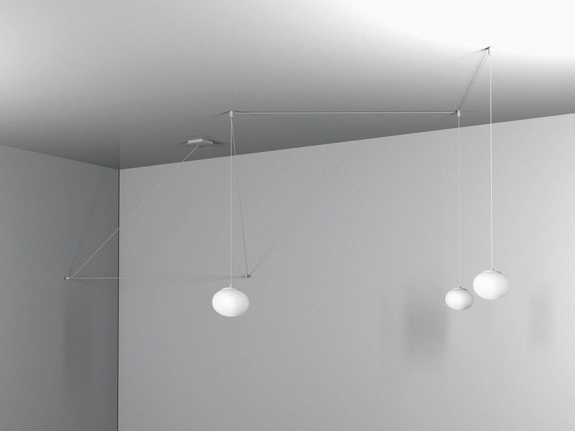 LED glass pendant lamp MINI MERCURY - Cattaneo Illuminazione