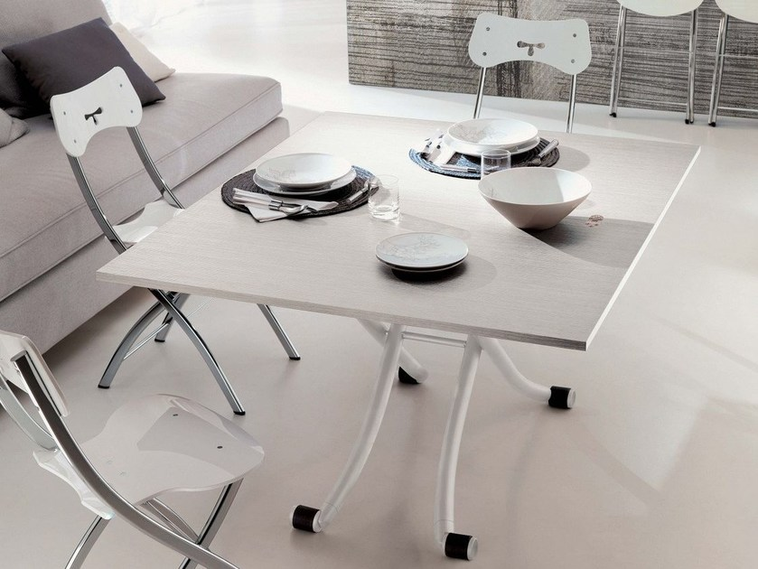 Height-adjustable melamine coffee table MINI by Ozzio Italia