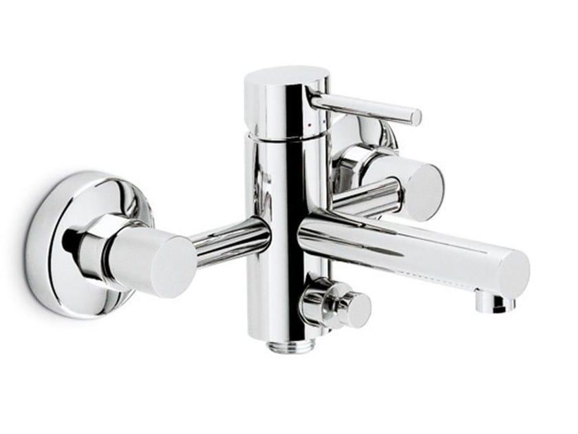 Wall-mounted single handle bathtub mixer with diverter MINI-X | Wall-mounted bathtub mixer by newform