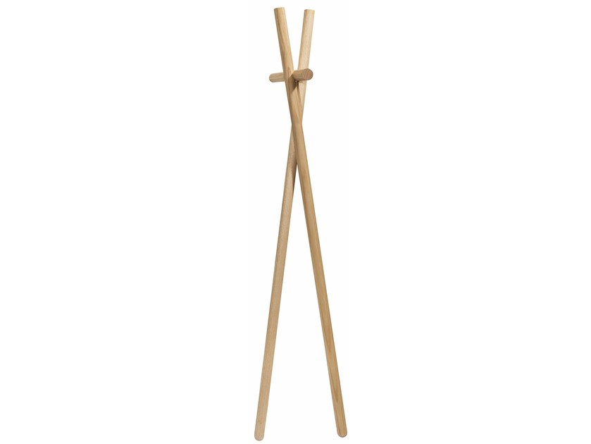 Wall-mounted ash coat rack MINILENAH - kommod