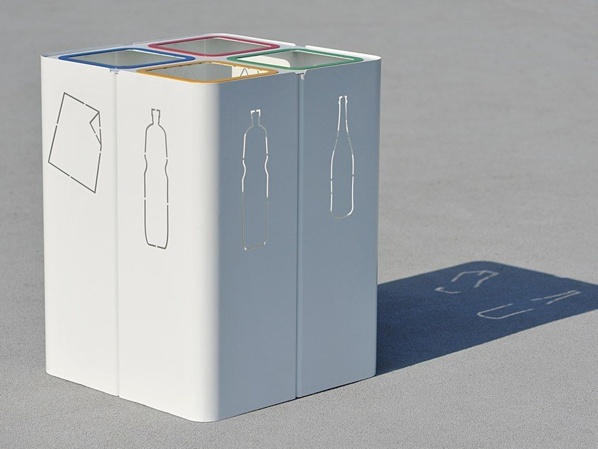 Steel waste bin for waste sorting MINILLERO - LAB23 Gibillero Design Collection