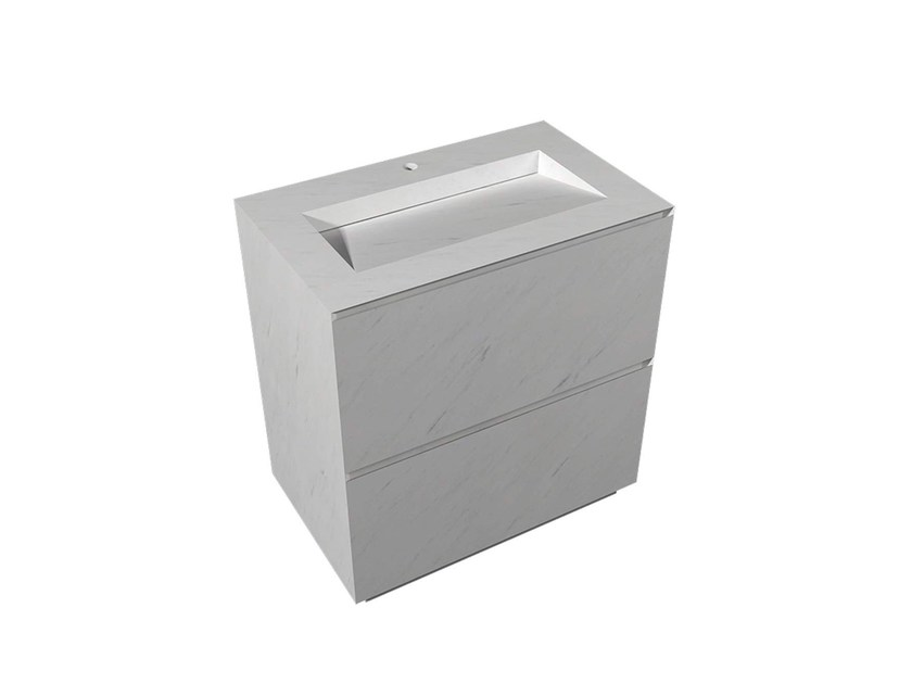 Freestanding rectangular natural stone washbasin MINIM | Freestanding washbasin - L'Antic Colonial