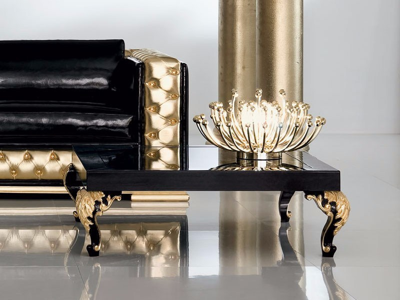 Lacquered square coffee table MINIMAL BAROQUE | Coffee table by Modenese Gastone