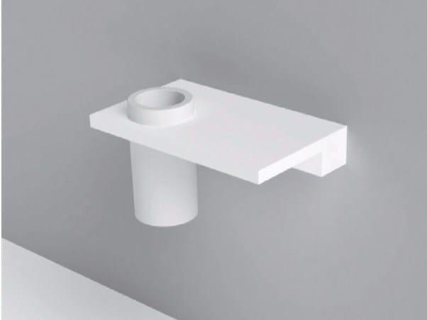 Portaspazzolino / mensola bagno in Corian® UNICO | Mensola bagno by Rexa Design