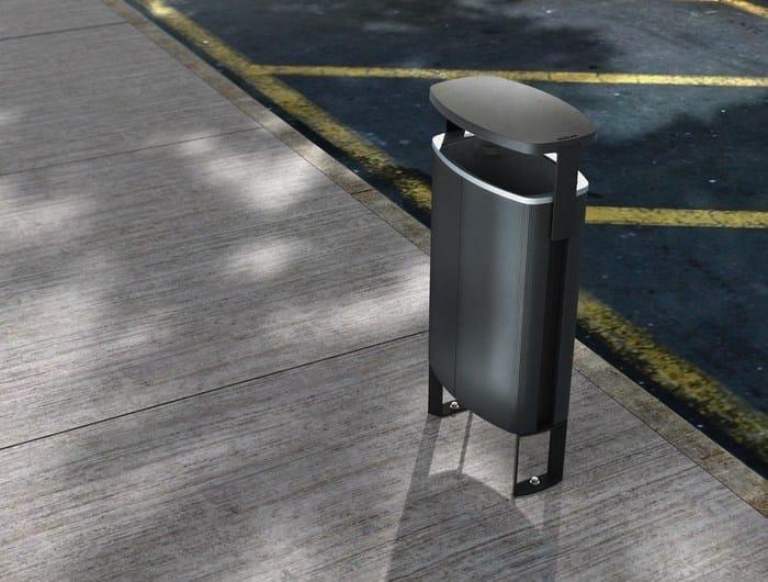 Portarifiuti in alluminio con coperchio MINIUM | Portarifiuti con coperchio - mmcité 1