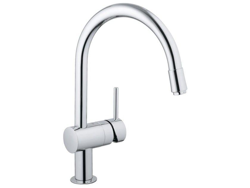 1 hole kitchen mixer tap with swivel spout MINTA C | Kitchen mixer tap with aerator - Grohe