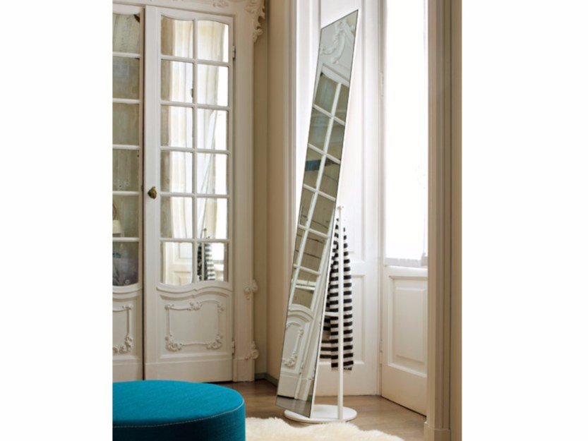 Freestanding rectangular mirror MIR by Lema