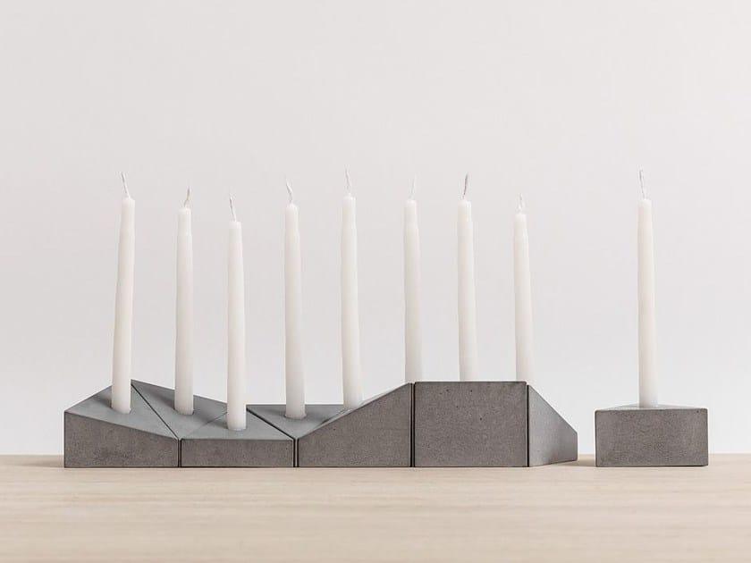 Concrete candle holder HANUKIAH LOGIFACES EDITION - Planbureau