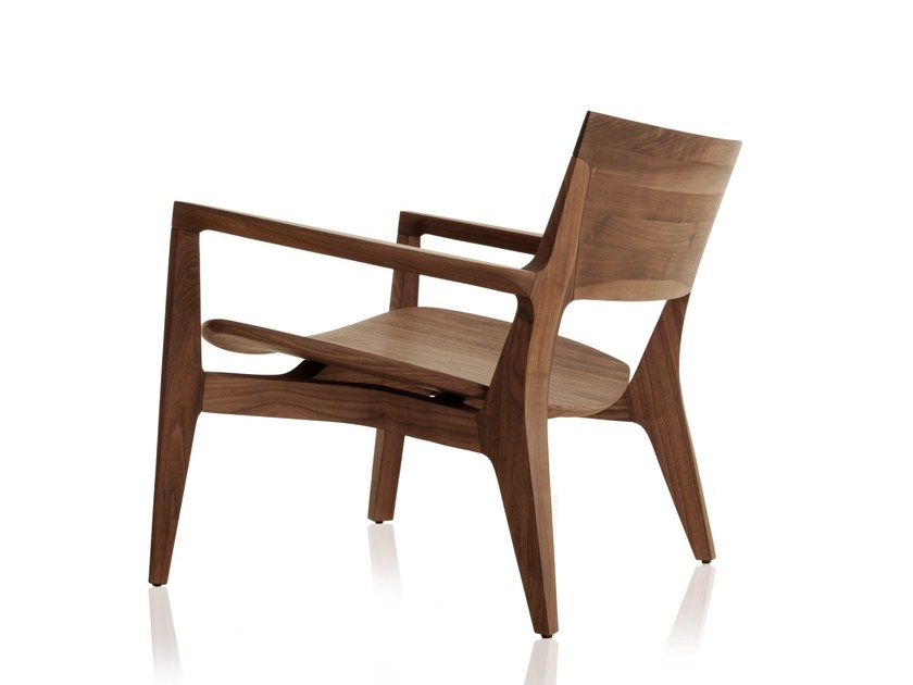 Solid wood armchair with armrests MIRAH | Armchair by Sollos
