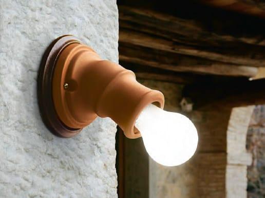 Ceramic wall lamp with fixed arm MIRFAK by Aldo Bernardi