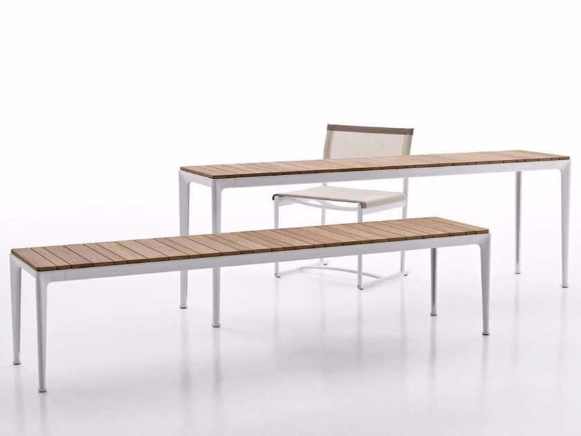 Rectangular aluminium and wood garden console MIRTO | Console table - B&B Italia Outdoor, a brand of B&B Italia Spa