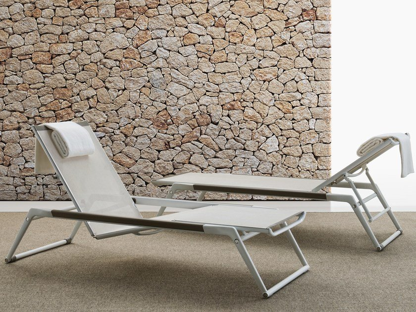 Stackable Recliner Batyline® garden daybed MIRTO OUTDOOR | Stackable garden daybed by B&B Italia Outdoor