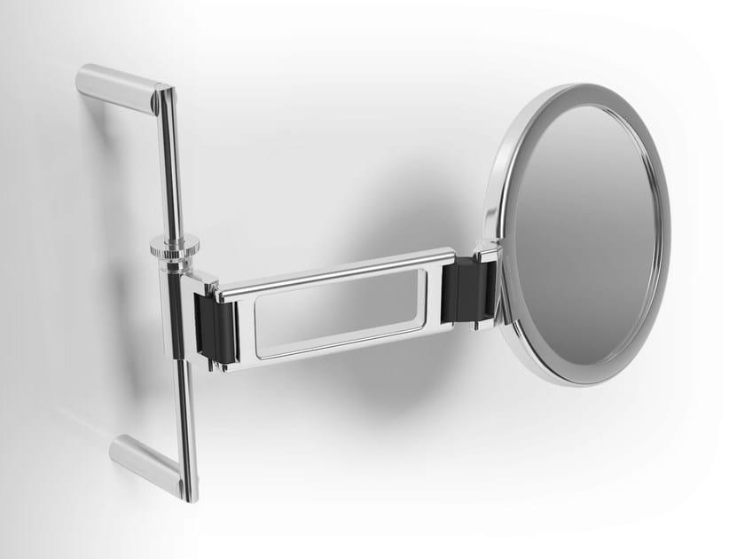 Double-sided wall-mounted metal shaving mirror MIRTO | Shaving mirror - Alna