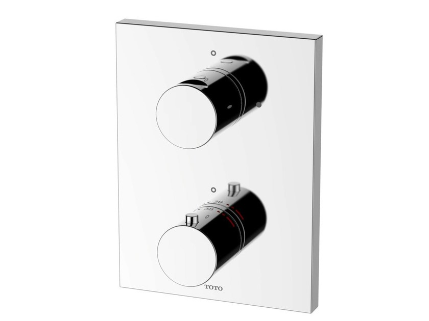 2 hole chromed brass thermostatic shower mixer DB420VE | 2 hole thermostatic shower mixer - TOTO