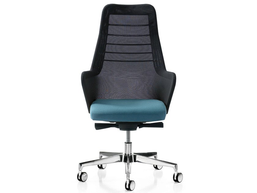 Height-adjustable fabric executive chair with 5-spoke base MISS MESH | Executive chair - Quinti Sedute