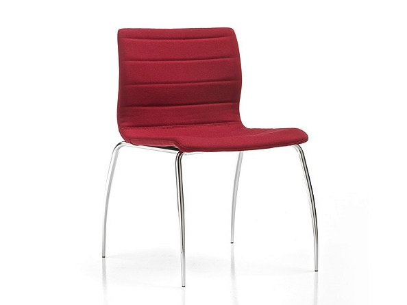 Upholstered reception chair MISS | Stackable chair by D.M.