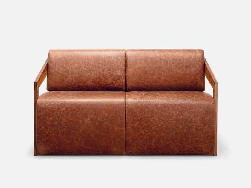 2 seater leather sofa MISTER | 2 seater sofa - CIZETA